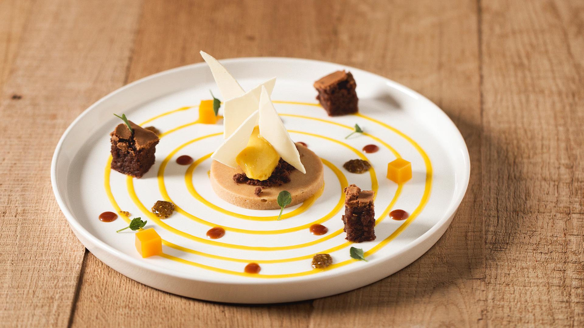 Gourmet dessert in detail